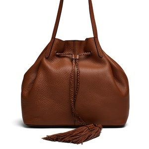 Rebecca Minkoff Almond Drawstring Leather Tote